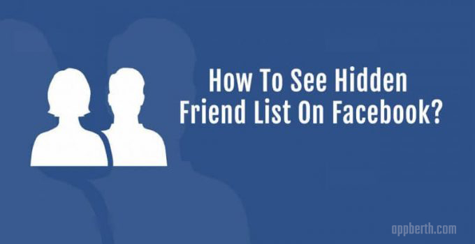 See Private/Hidden Friend List Facebook